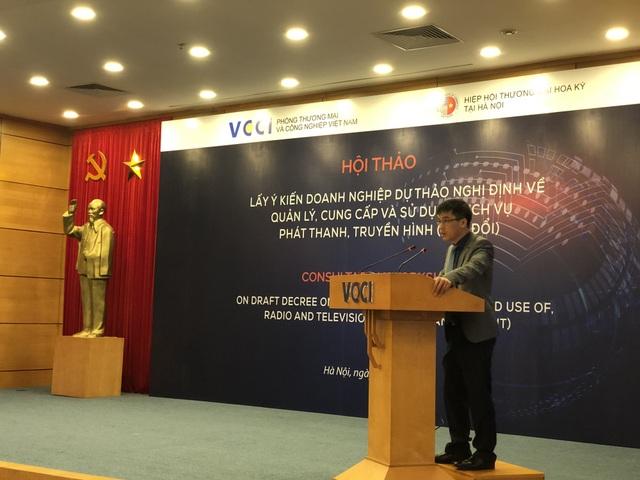 Ông Đậu Anh Tuấn, Trưởng ban Pháp chế VCCI