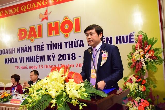 Anh Trần Đức Minh, Chủ tịch Hội Doanh nhân trẻ tỉnh Thừa Thiên Huế nhiệm kỳ 2018-2023