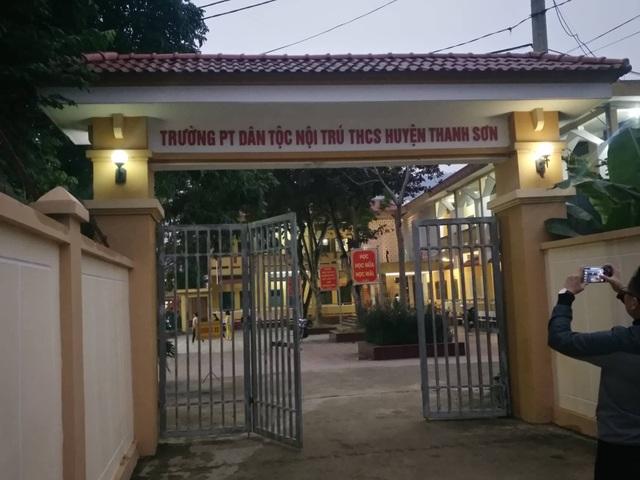 Trường phổ thông dân tộc nội trú THCS huyện Thanh Sơn (Ảnh: CTV).