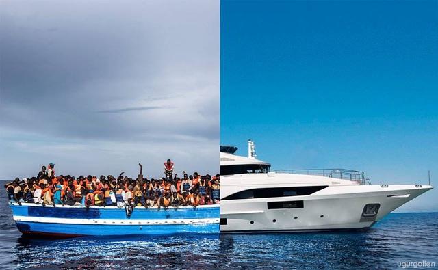 Chiếc du thuyền xa hoa thì chỉ chở một vài người, nhưng chiếc thuyền gỗ cọc cạch thì chở hàng trăm người tị nạn
