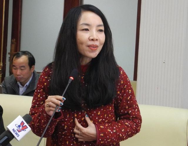 Bà Phan Hồ Điệp, giáo viên Trường ĐH Sư phạm Hà Nội.