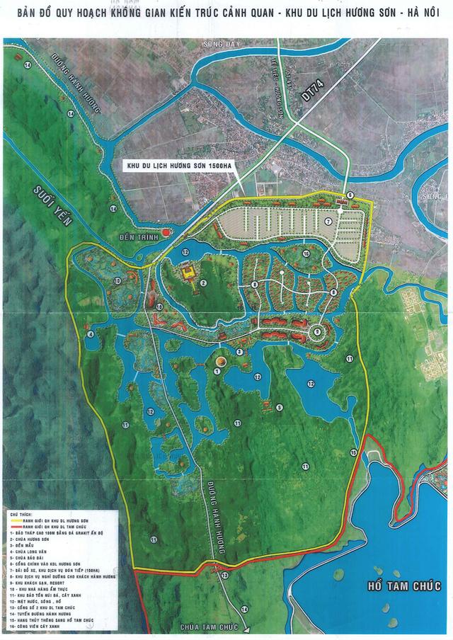 Quy hoạch không gian kiến trúc khu du lịch Hương Sơn-Hà Nội
