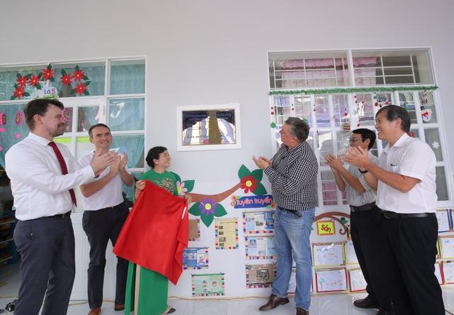 Trường mầm non Phú Bình bao gồm 3 phòng học, sẽ đón nhận được hơn 80 em học sinh
