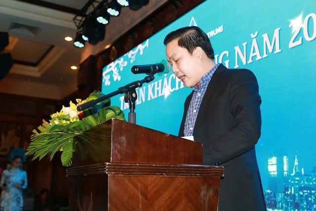 Tổng giám đốc Tống Phước Hoàng Hưng phát biểu tại sự kiện Lễ tri ân và mở bán dự án Khu đô thị thông minh Eco Town