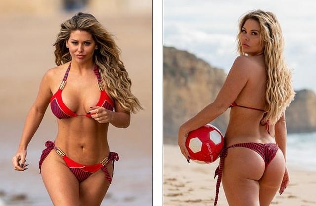 Bianca Gascoigne tự tin khoe vòng ba mới đại tu trong bộ bikini gợi cảm