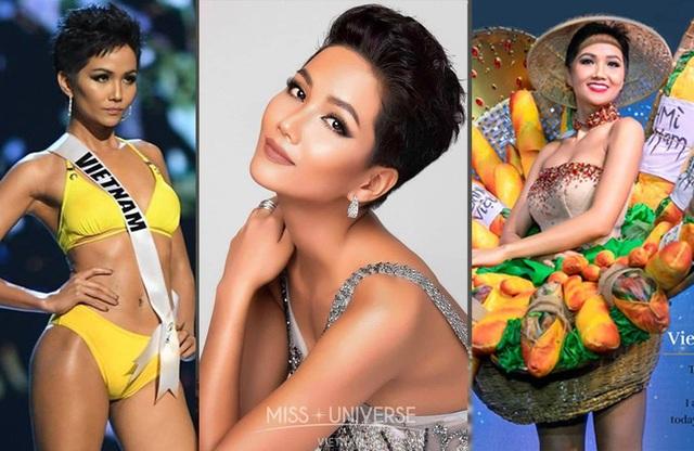Sao Việt tưng bừng chúc mừng H'hen Nie lọt top 5 Hoa hậu Hoàn vũ - 1