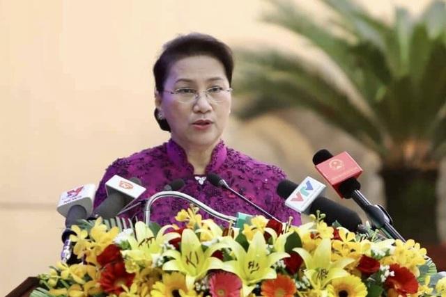 Chủ tịch Quốc hội Nguyễn Thị Kim Ngân phát biểu tại phiên khai mạc kỳ họp cuối năm của HĐND TP Đà Nẵng