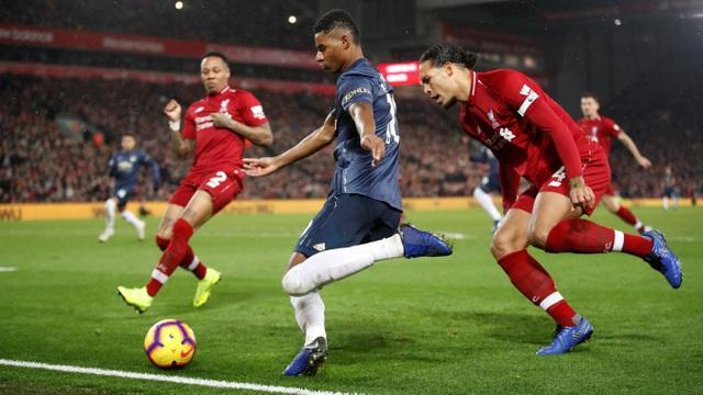 Rashford đã không thể tỏa sáng khi đơn độc chiến đấu trước sự vây hãm quyết liệt của hàng thủ Liverpool