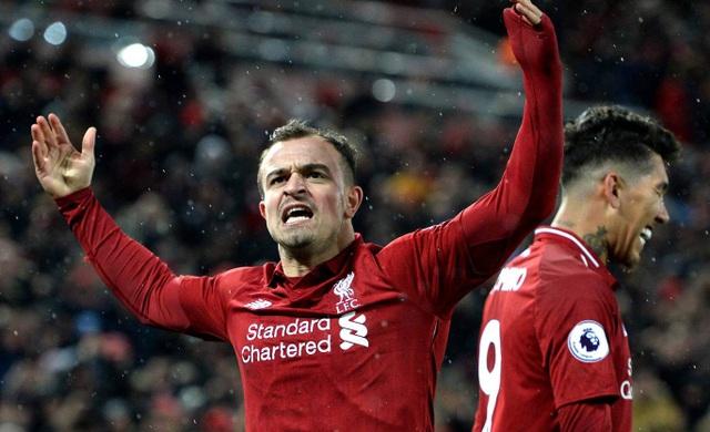 Tiền đạo người Thụy Sĩ khuấy động cổ động viên đội nhà khi Liverpool vượt lên dẫn trước lần hai