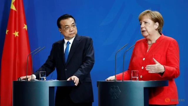 Thủ tướng Đức Angela Merkel và Thủ tướng Trung Quốc Lý Khắc Cường tại Berlin, Đức tháng 7/2018 (Ảnh: Reuters)