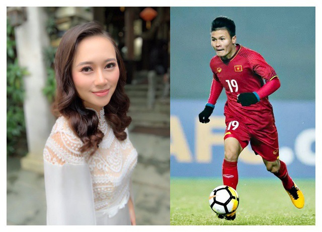 """Nữ ca sĩ """"hoạ mi hót trong mưa"""" chia sẻ cô rất yêu dàn tuyển thủ quốc gia và có ấn tượng đặc biệt với Quang Hải."""