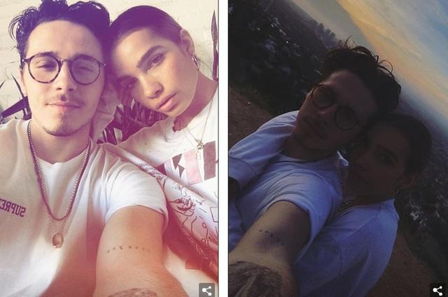 Hình ảnh ngọt ngào của 2 người được Brooklyn chia sẻ trên trang cá nhân