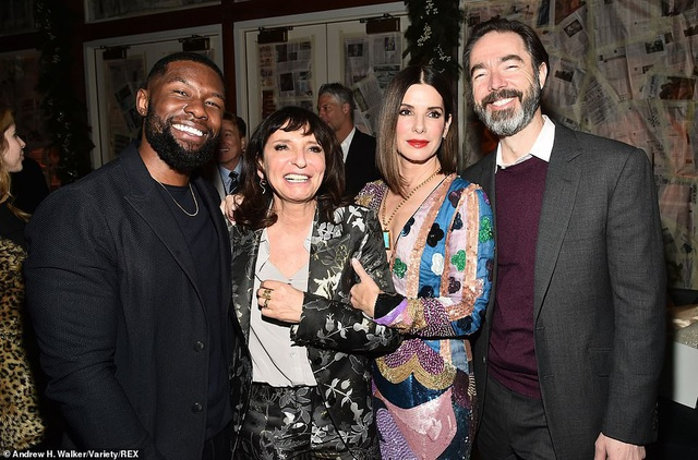Trevante Rhodes, đạo diễn Susanne Bier, Sandra Bullock và nhà sản xuất Chris Morgan
