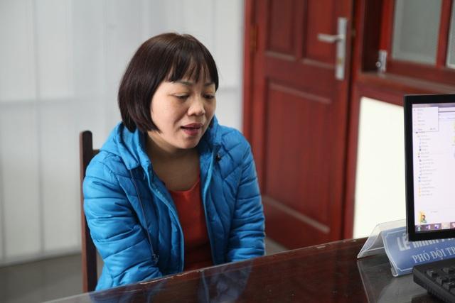 Đào Thị Thanh Bình tại cơ quan công an