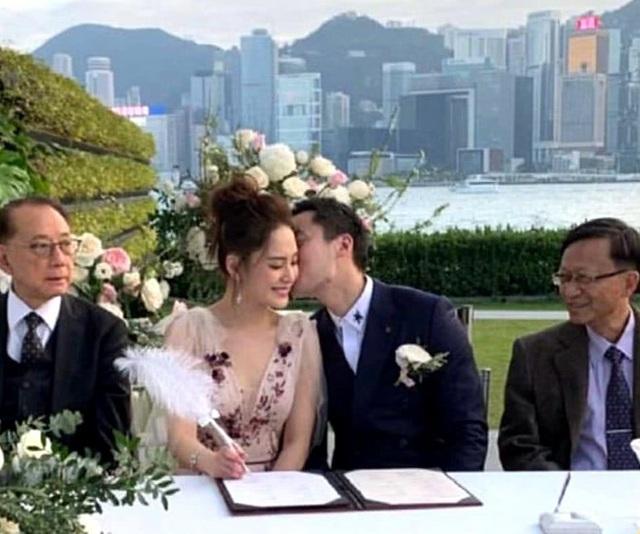Chung Hân Đồng xinh như công chúa trong tiệc cưới ngoài trời - Ảnh 7.