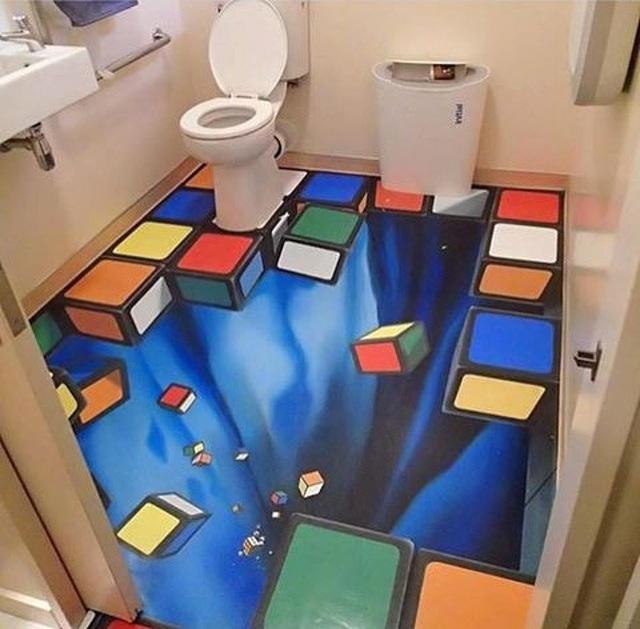 Những giây phút thư giãn riêng tư trong phòng tắm có thể trở nên thú vị hơn gấp trăm lần nếu chúng ta biến nó thành một tác phẩm 3D.