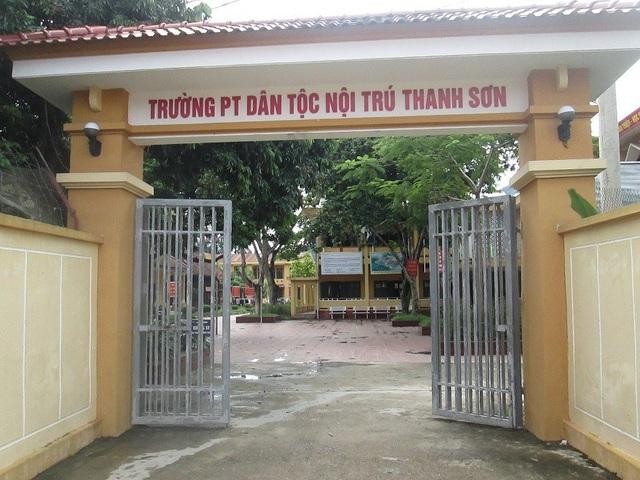 Trường Phổ thông dân tộc nội trú Thanh Sơn (huyện Thanh Sơn, tỉnh Phú Thọ) - nơi xảy ra vụ việc nhiều học sinh nam bị thầy hiệu trưởng Đinh Bằng My xâm hại tình dục.
