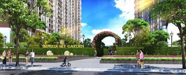 Tổ hợp căn hộ chung cư cao cấp Imperia Sky Garden tọa lạc tại 423 Minh Khai, Hà Nội