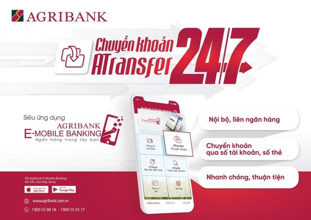 Chuyển khoản siêu tốc 24/7 với Agribank E-Mobile Banking - 2