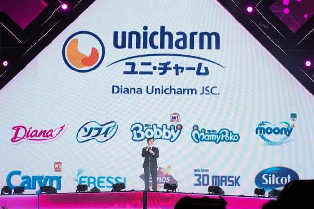 Phó tổng giám đốc công ty Diana Unicharm – ông Murakami phát biểu khai mạc chương trình.