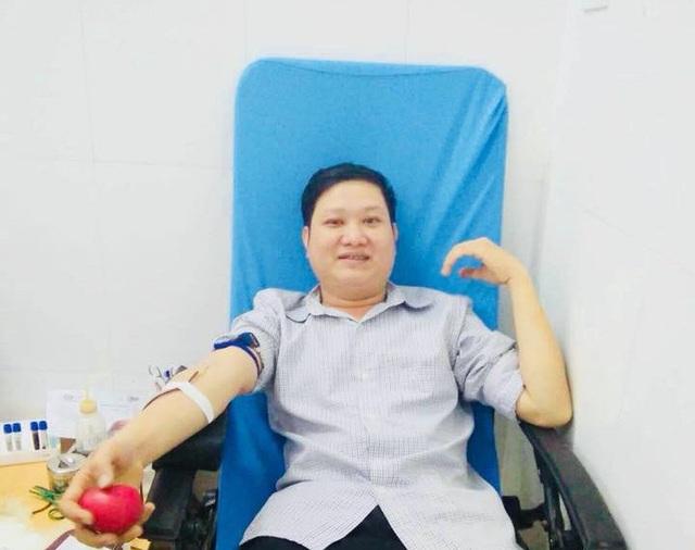 Anh Nguyễn Văn Quân, người có 18 lần hiến máu tình nguyện.