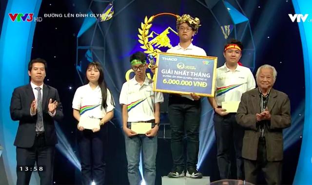 Ninh Thành Vinh (Thái Bình) đăng quang cuộc thi Olympia Tháng 3 Quý 1