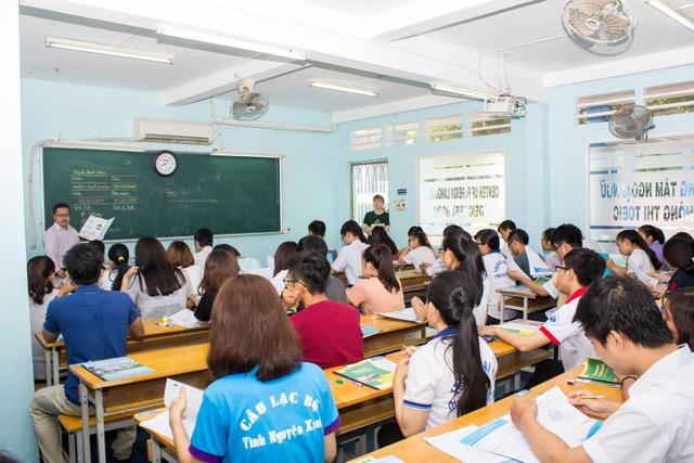 Một lớp học tiếng Anh tại trường ĐH Công nghiệp Thực phẩm TPHCM