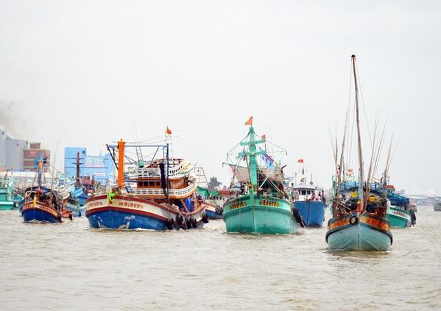 Cà Mau có tổng số tàu cá cần lắp đặt thiết bị giám sát hành trình là hơn 1.500, những tàu không lắp đặt thiết bị theo quy định, sẽ không được ra khơi đánh bắt thủy sản. Ảnh: Chúc Ly.