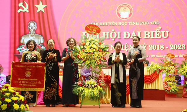 Nhân dịp này, Trung ương Hội Khuyến học Việt Nam đã trao tặng Cờ thi đua đơn vị xuất sắc giai đoạn 2013 - 2018 cho Hội Khuyến học tỉnh Phú Thọ.