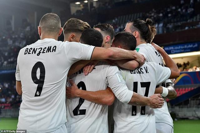 Niềm vui chiến thắng của Real Madrid