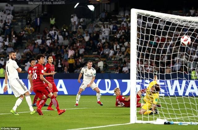 Bale nâng tỷ số lên 3-0 cho Real Madrid ở phút 55