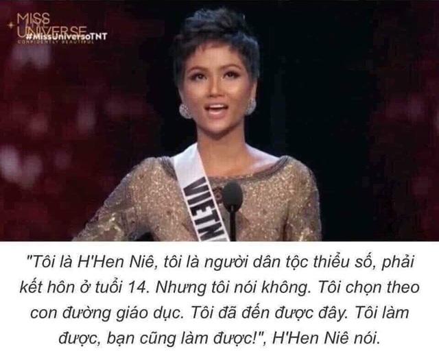 Phát ngôn của Hoa hậu HHen Niê tại cuộc thi Hoa hậu Hoàn vũ Thế giới