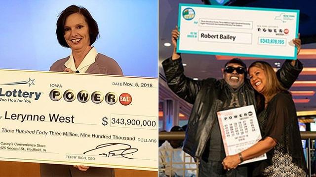 Bà Lerynne West và ông Robert Bailey đã chia một trong năm giải xổ số độc đắc lớn nhất trong năm nay. (Nguồn: Iowa Lottery/New York Lottery)