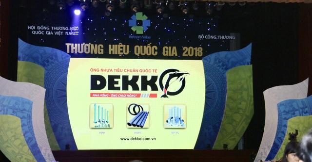 Doanh nghiệp ngành nhựa đón nhận giải thưởng Thương hiệu quốc gia 2018 - Ảnh 1.