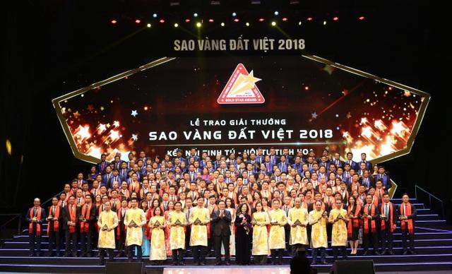 Các doanh nghiệp đạt giải thưởng Sao Vàng Đất Việt 2018 - Ảnh 1.