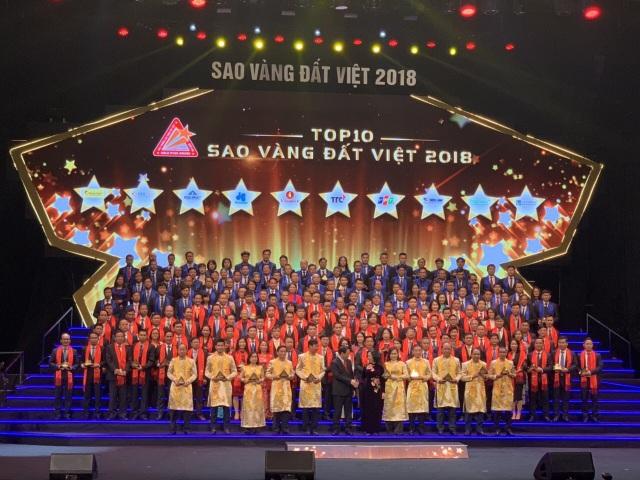 HVC Group đạt giải thưởng Sao Vàng Đất Việt 2018 - Ảnh 1.