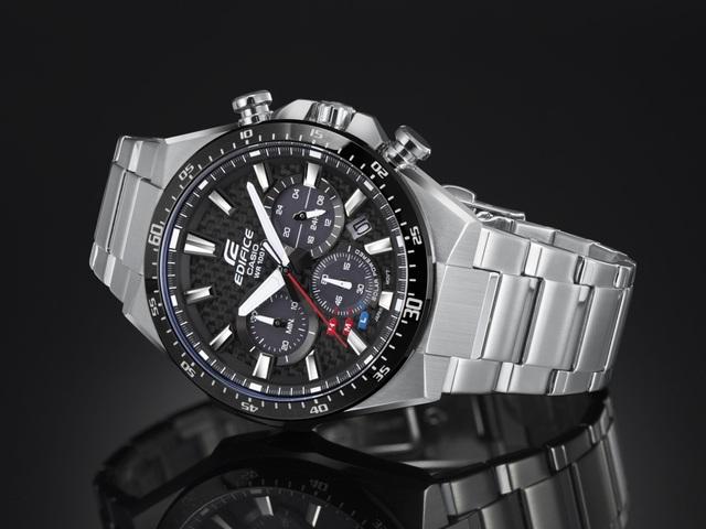 Đồng hồ Casio năng lượng mặt trời EQS-800CDB chinh phục phái mạnh - Ảnh 2.