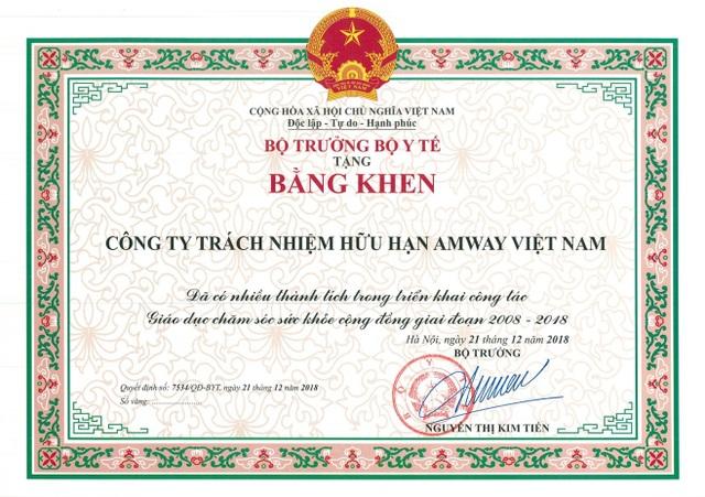 Amway Việt Nam được vinh danh vì những đóng góp cho cộng đồng - Ảnh 2.
