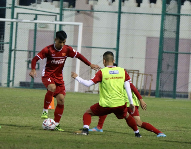 Đội tuyển Việt Nam rèn miếng đánh trong buổi tập đầu tiên ở Qatar - Ảnh 3.