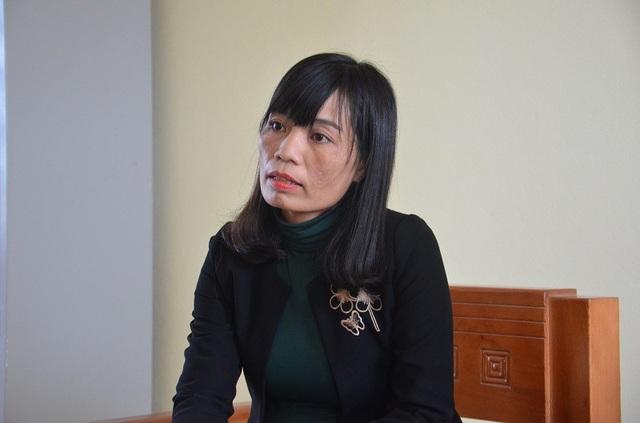 Cô Phạm Thị Lệ Anh, Hiệu trưởng Trường THCS Duy Ninh.