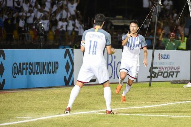 Patrick Reichelt là người ghi bàn duy nhất cho Philippines trong trận đấu với Việt Nam