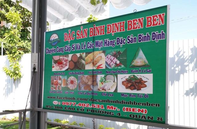 Đặc sản Bình Định, Phan Thiết sẽ được bán tại quán.
