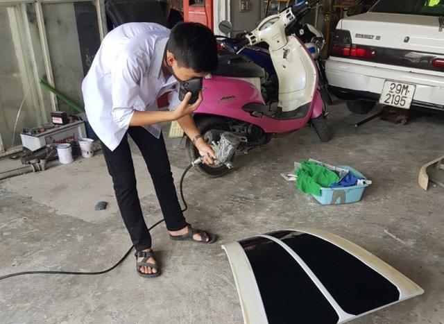 Việt Cường có đam mê từ nhỏ với ô tô.