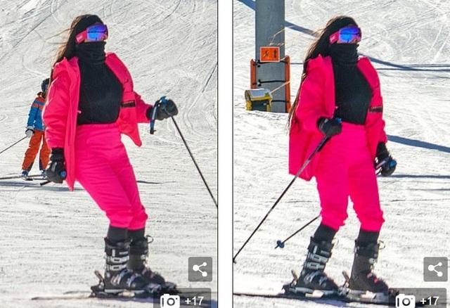 Kim Kardashian trổ tài trượt tuyết
