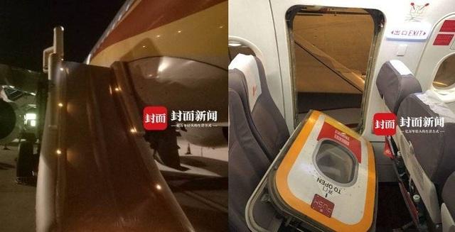 Khi cảm thấy ngột ngạt, hành khách này đã mở cửa thoát hiểm khi máy bay chuẩn bị cất cánh (Ảnh: Shanghaist)