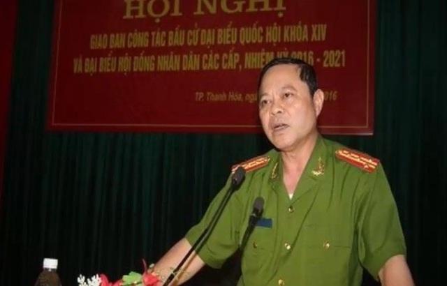 Đại tá Nguyễn Chí Phương, Trưởng Công an thành phố Thanh Hóa đã bị đình chỉ công tác.