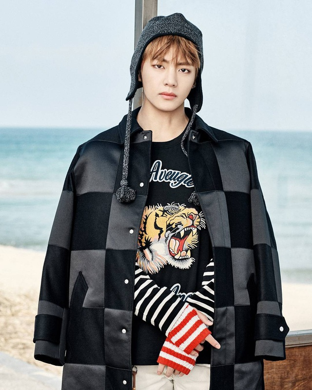Thành viên V (Taehyung) của nhóm BTS đứng thứ 5. Hồi năm ngoái, V từng đứng đầu bảng.