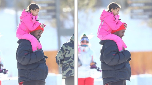 Kim Kardashian cùng chồng con đi trượt tuyết - Ảnh 4.