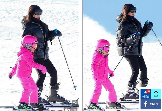 Kim Kardashian cùng chồng con đi trượt tuyết - Ảnh 5.