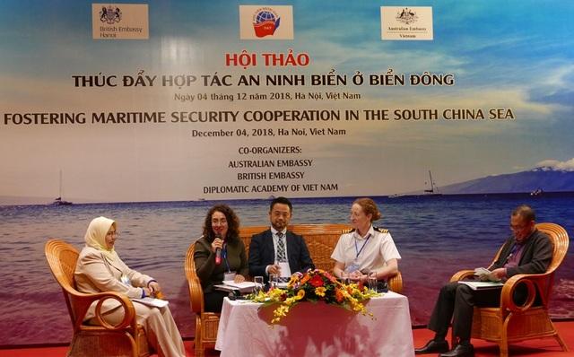 Các đại biểu tham gia thảo luận thúc đẩy hợp tác an ninh ở Biển Đông (Ảnh: An Bình)